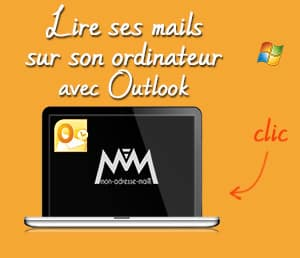 Lire son adresse mail personnalisée dans Outlook