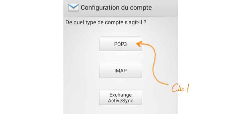 configurer son email sur Android