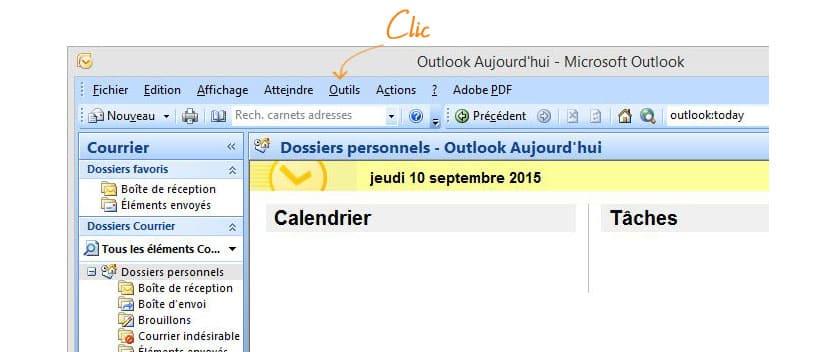 mail gandi sur MS Outlook