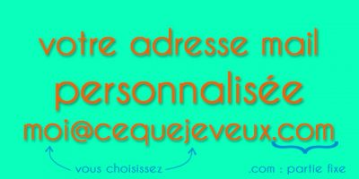 Creer adresse mail personnalisee
