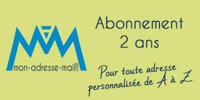 2 ans d'abonnement pour les emails personnalisés de A à Z .fr .eu .com