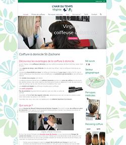 creer un site web coiffeuse a domicile