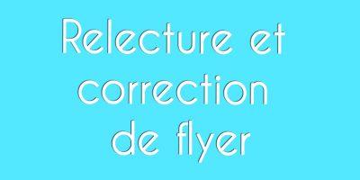 Correction de flyer : orthographe et fautes de français