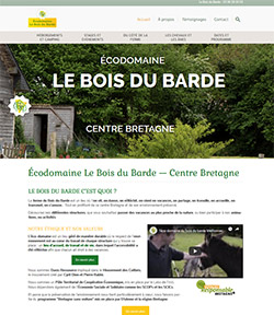 site web ecodomaine avec hebergement